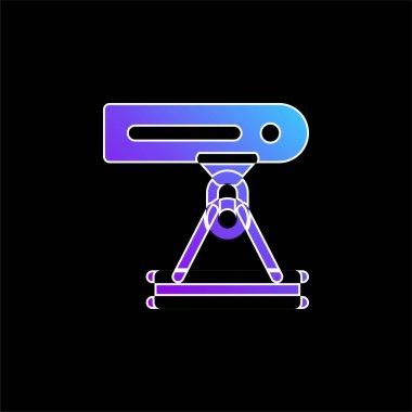 Beam blue gradient vector icon stock vector