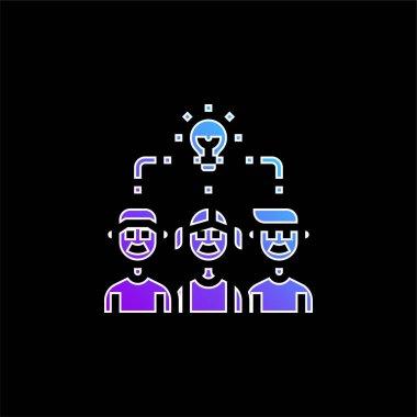 Brainstorm blue gradient vector icon stock vector
