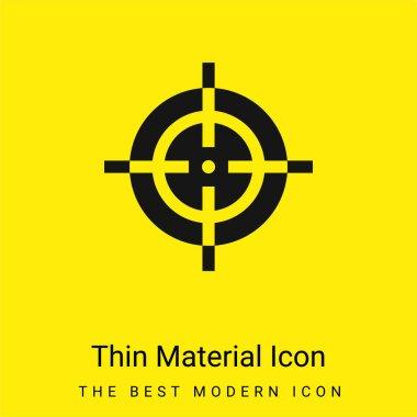 Aim minimal bright yellow material icon stock vector