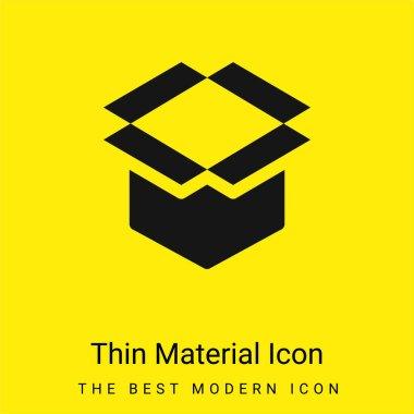 Box minimal bright yellow material icon stock vector