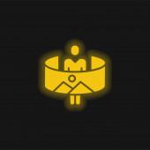 360 sárga izzó neon ikon
