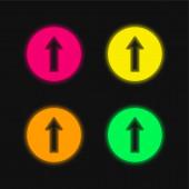 Ahead four color glowing neon vector icon