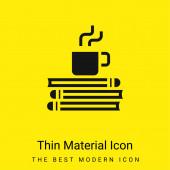 Pausenzeit minimal leuchtend gelbes Material-Symbol