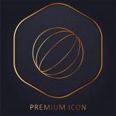Logo nebo ikona prémie zlaté čáry