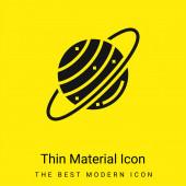 Astronomie minimální jasně žlutý materiál ikona