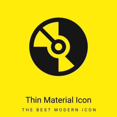 Big DVD minimal bright yellow material icon stock vector