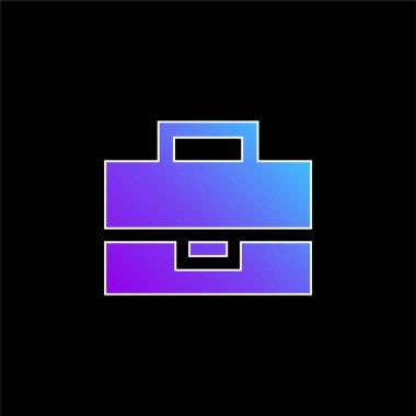 Black Briefcase blue gradient vector icon