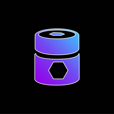 Barrel With Pentagons blue gradient vector icon stock vector