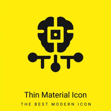 Artificial Intelligence minimal bright yellow material icon stock vector