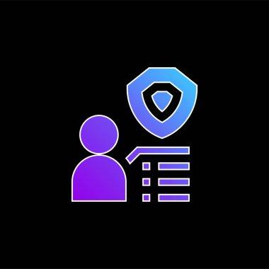 Benefit blue gradient vector icon stock vector