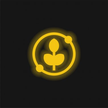 Agronomy yellow glowing neon icon stock vector
