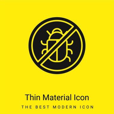 Antivirus minimal bright yellow material icon stock vector