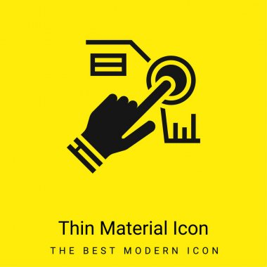 Assistant minimal bright yellow material icon stock vector
