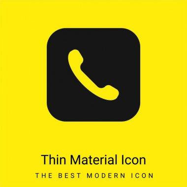 Apple minimal bright yellow material icon stock vector