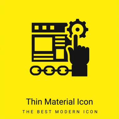 Application minimal bright yellow material icon stock vector