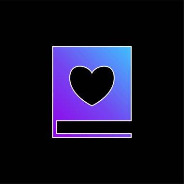 Book Of Love blue gradient vector icon stock vector