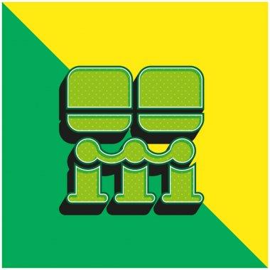 Art Museum Green and yellow modern 3d vector icon logo stock vector