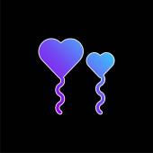 Léggömbök kék gradiens vektor ikon