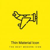 Letadla minimální jasně žlutý materiál ikona