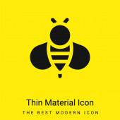 Biene minimal leuchtend gelbes Material Symbol