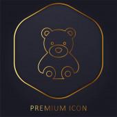 Bär goldene Linie Premium-Logo oder Symbol