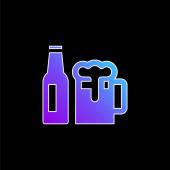 Ikona pivního modrého přechodu