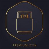 Ágynemű arany vonal prémium logó vagy ikon