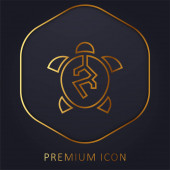 Állatkínzás arany vonal prémium logó vagy ikon
