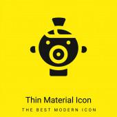 Baba minimális fényes sárga anyag ikon