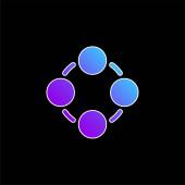 Anwendung blaues Gradienten-Vektorsymbol
