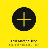 Tlačítko sčítání Minimální jasně žlutá ikona materiálu