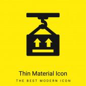 Box minimalen leuchtend gelben Material Symbol