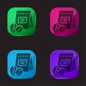 Bohnen vierfarbige Glasknopf-Symbol