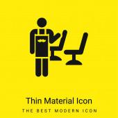 Friseur minimal leuchtend gelbes Material Symbol