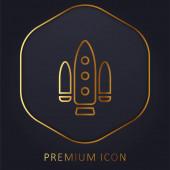 Logo nebo ikona zlaté linie projektu Apolo