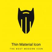 Szakáll minimális fényes sárga anyag ikon