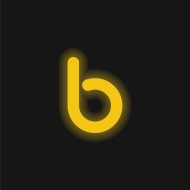 Bebo Big Logo yellow glowing neon icon stock vector