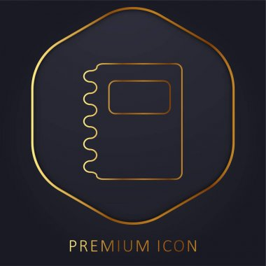 Agenda golden line premium logo or icon stock vector