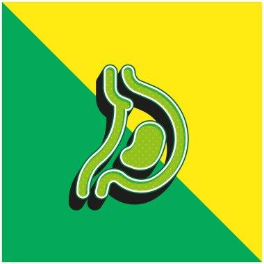 Acid Green and yellow modern 3d vector icon logo stock vector