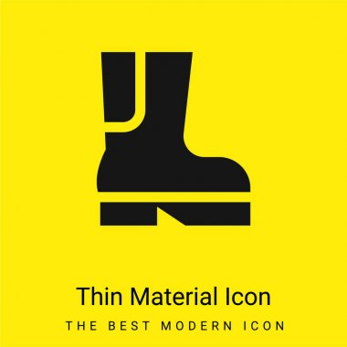 Boot minimal bright yellow material icon stock vector