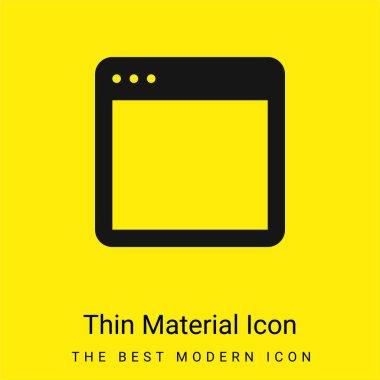 App minimal bright yellow material icon stock vector
