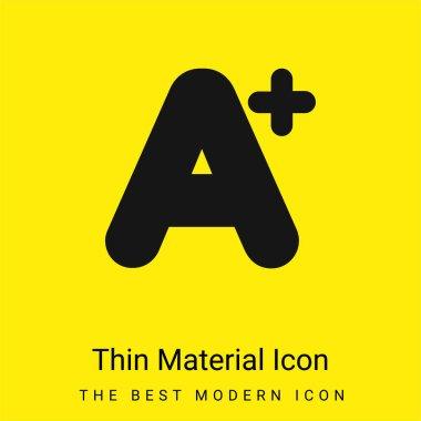 A+ Mark minimal bright yellow material icon stock vector