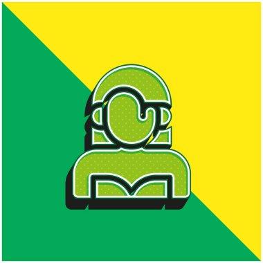 Actress Green and yellow modern 3d vector icon logo stock vector