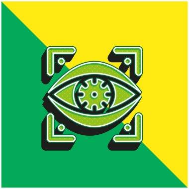 Bionic Eye Green and yellow modern 3d vector icon logo
