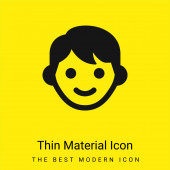 Chlapec minimální jasně žlutý materiál ikona