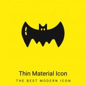 Denevér minimális fényes sárga anyag ikon