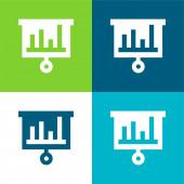 Bary Graf Byt čtyři barvy minimální ikona nastavena