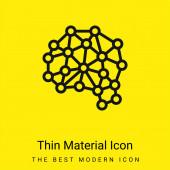Künstliche Intelligenz minimales hellgelbes Materialsymbol
