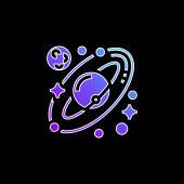 Csillagászat kék gradiens vektor ikon