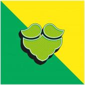 Bart Grünes und gelbes modernes 3D-Vektor-Symbol-Logo